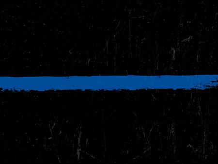 The Thin Blue Line. Symbole de la police. Vecteurs