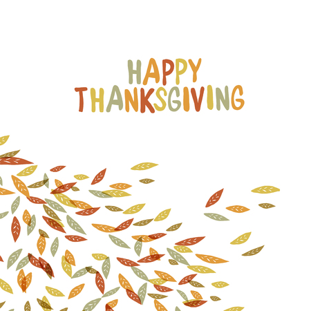 quirky: Happy Thanksgiving postcard design. Autumn fall illustration. For autumn and thanksgiving greeting cards designs. Hand drawn quirky vector illustration