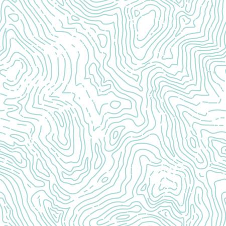 Seamless topographique contour carte motif.
