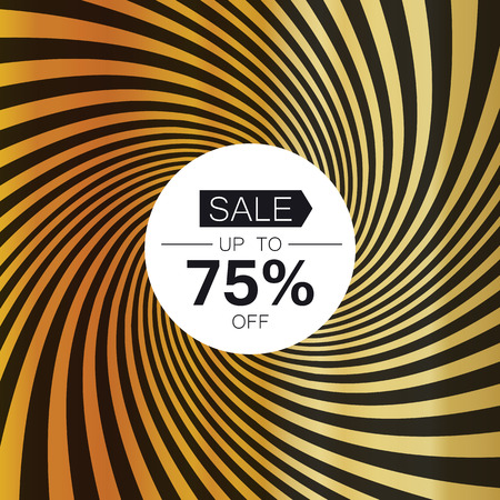 discount store: Sale card template. On golden rays background Illustration
