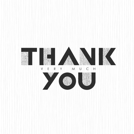 thank you very much: Vintage Thank you very much Lettering. On thin gray lines background Illustration