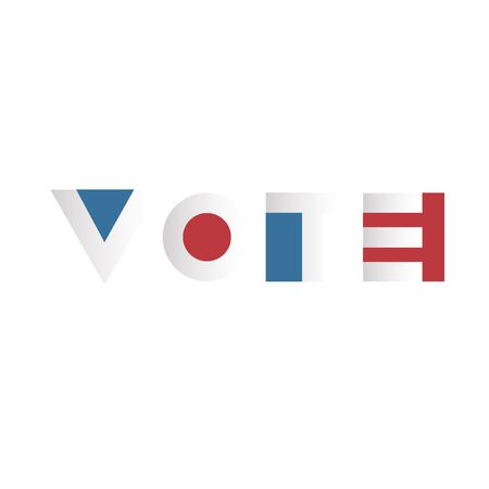 voting: Voting concept. Voting Campaign Election Typography.