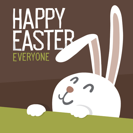 Happy Easter Everyone. Easter Bunny. Vector Illustration. Illustration