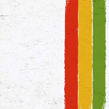 jah: Rasta colors grunge background. Abstract template use for Rastafarian thematic layouts.