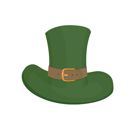 17th: Saint Patricks hat symbol. Hand drawn vector illustration. Isolated design element for holiday designs Illustration
