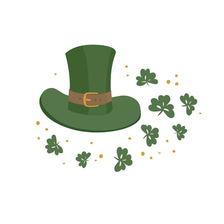 patrick's: Saint Patricks hat symbol. Celebration design for March, 17th. Hand drawn illustration. Beer festival badge