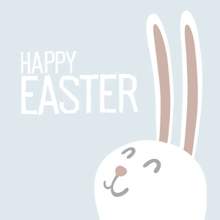 animal ear: Happy Easter Everyone. Easter Bunny Ears Vector Illustration. Illustration