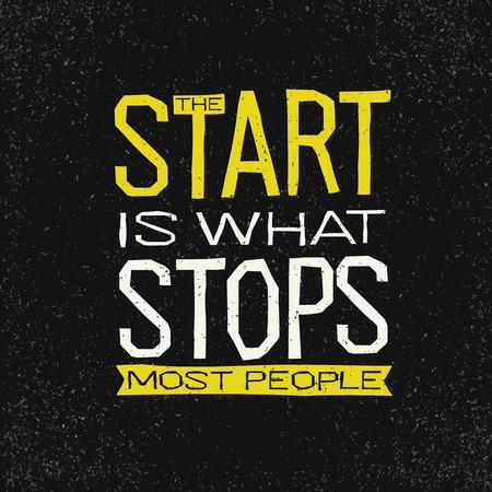L'inizio è ciò che impedisce la maggior parte delle persone di ispirazione ispiratrice.
