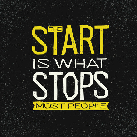 quotation: The start is what stops most people inspirational quote.