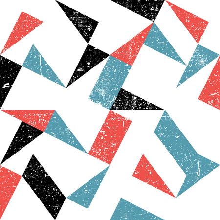 Seamless triangles pattern. Abstract grunge background