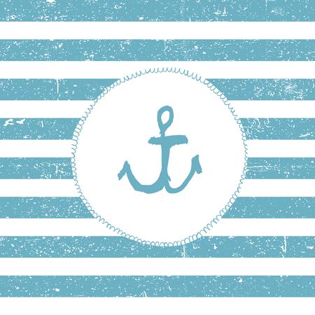 Marine background. Blue lines pattern. Nautical card design