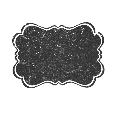 overly: Vintage textured label background. Abstract retro vector illustration