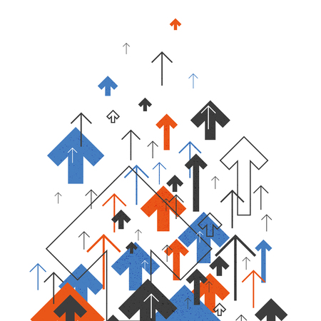 Abstract Success Concept. Growing arrows Illustration. Motion Up. Successful Background Cover Design for annuals reports, brochures, etc