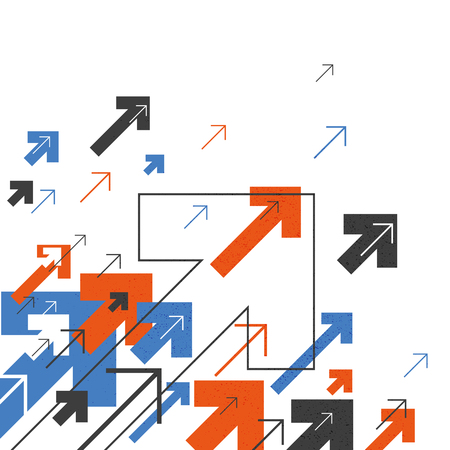 Abstract Succes Concept. Groeiende pijlen Illustratie. Motion Up. Succesvolle Achtergrond Cover Design voor eenjarigen rapporten, brochures, etc