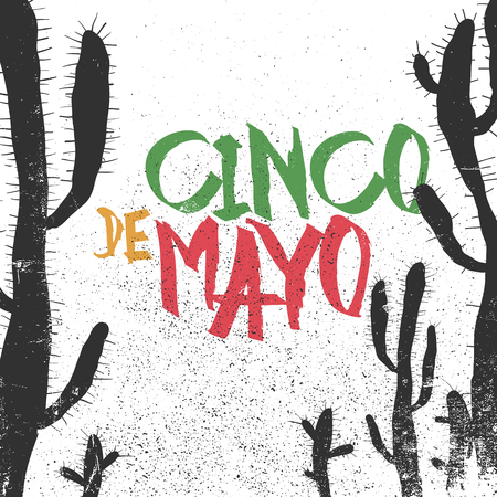 latin: Cinco de Mayo vector illustration. 5 of May holiday vector. Cinco de Mayo holiday background.