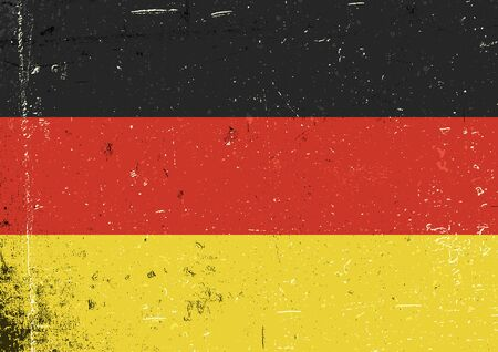 Germany grunge flag. Abstract Germany patriotic background. Vector grunge illustration, A4 format