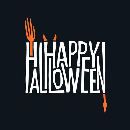 Happy Halloween logotype design.  Abstract Halloween holiday sign