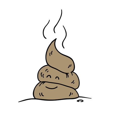 Poop icon. Funny cartoon character.
