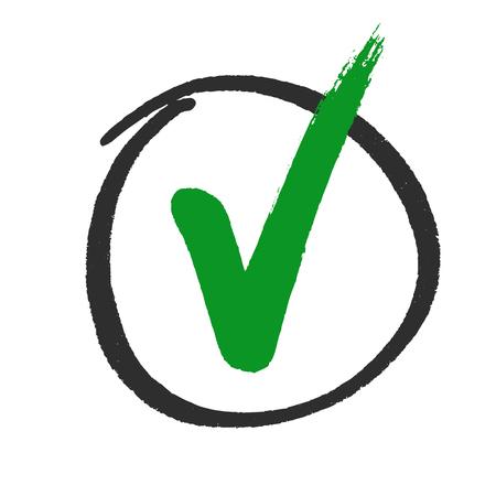 Abstimmung oder genehmigt Häkchen Hand gezeichnet