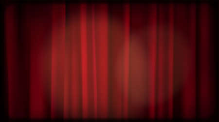 Old cinema red curtain blank Screen. Editable light area. Vintage retro scene like in old time hollywood movies