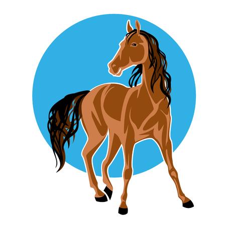 Cheval de cheval avec crinière noir illustration vectorielle Banque d'images - 97101815