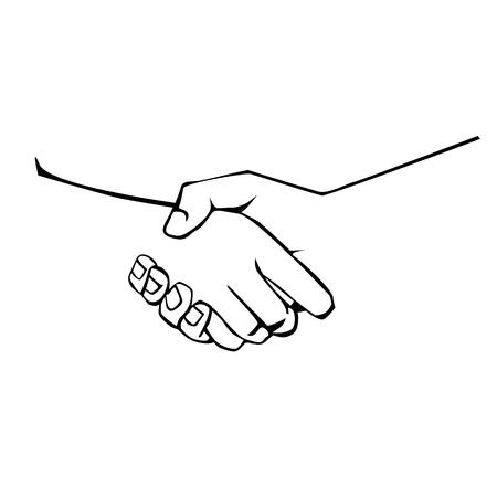 Vector isolated graphic image of a handshake, business handshake 일러스트