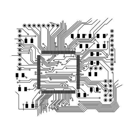 Image graphique isolée de vecteur de la carte de circuit imprimé