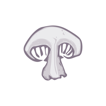 Cutted champignon icon. Cartoon of cutted champignon vector icon for web design isolated on white background