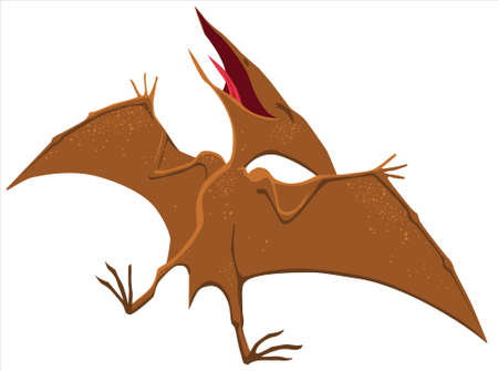 Happy pterodactyl cartoon. Vector stylized isolated image.