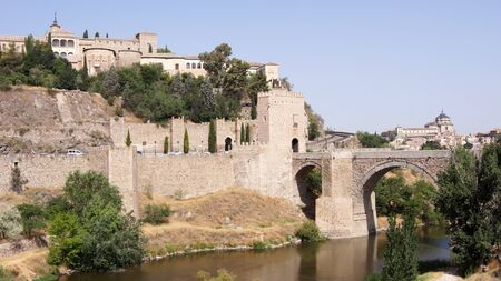The panoramic view of Toledo in Spain