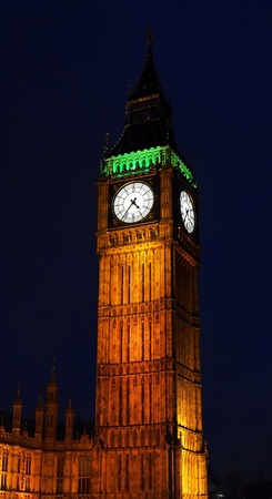 The Elizabeth Tower Big Ben in London at night, Unitied Kingdom