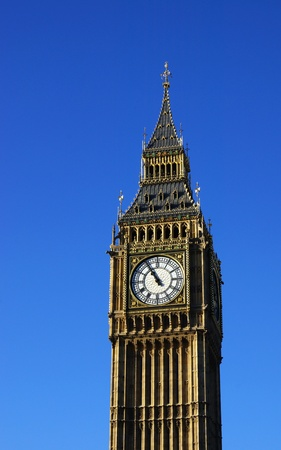 The Elizabeth Tower  Big Ben in London, Unitied Kingdom            photo
