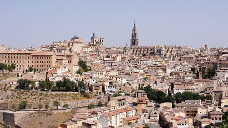 The panoramic view of Toledo in Spain photo