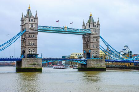 Tower Bridge on the river Thames in London, UK photo