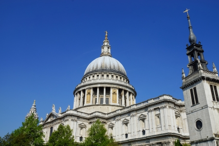 st  paul   s cathedral: View of St Paul s cathedral, London, UK