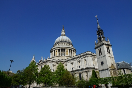 View of St Paul s cathedral, London, UK photo