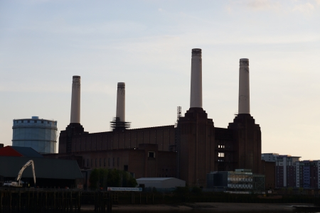 pink floyd: Battersea power station on May 06, 2013  The station ceased generating electricity in 1983, but over the past 50 years it has become one of the best known landmarks in London