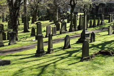 cemetry: Old cemetery in Edinburgh, Scotland, UK