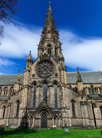 crown spire: The Cathedral Church of St Mary in Edinburgh, UK