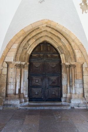 se: Entrance to the Cathedral Se, Faro, Algarve, Portugal