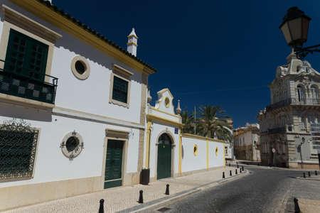 region of algarve: Street in Faro, Region Algarve, Portugal