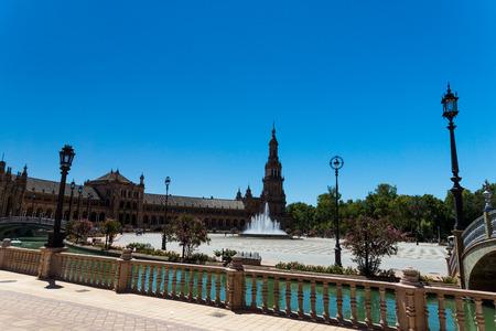 sevilla: Spanish Square in Sevilla, Spain Stock Photo