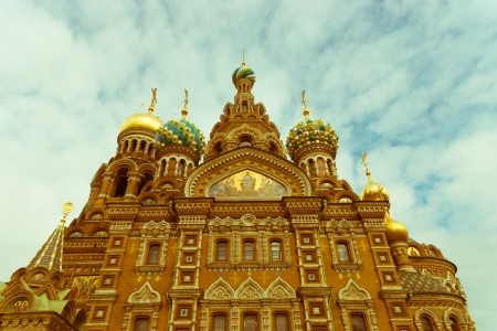 Church of the Savior on Blood in Petersburg, Russia  Was built on the site where Tsar Alexander II was assassinated and was dedicated in his memory  photo