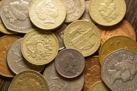 British pound sterling coins photo