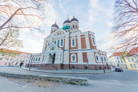 roofed house: Alexander Nevsky Cathedral, an orthodox cathedral in the Tallinn Old Town, Estonia  Stock Photo