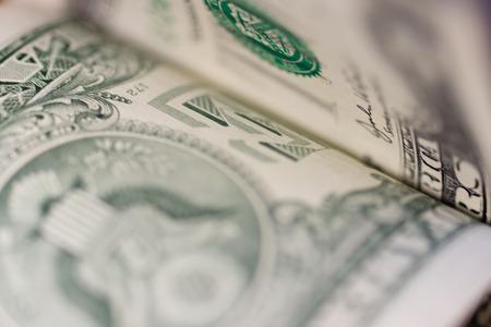 Background of one dollar bill photo