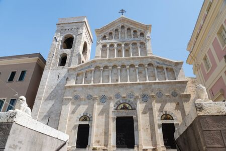 St. Mary cathedral in Cagliari, Italy Stock Photo