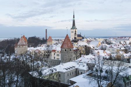 estonia: Panoramic view of Tallinn. Estonia