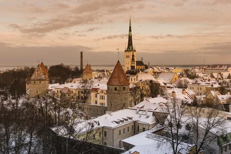 tallinn: Panoramic view of Tallinn. Estonia