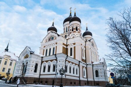 tallin: Alexander Nevsky Cathedral, an orthodox cathedral in the Tallinn Old Town, Estonia.